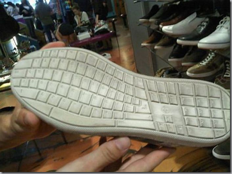clavier pieds