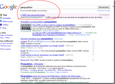 perquisition adwords
