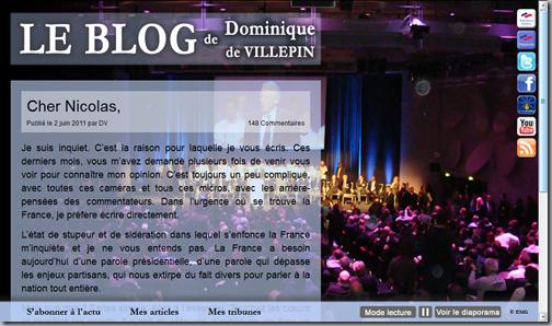 blog de villepin