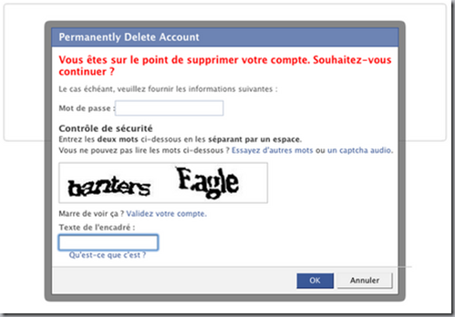suppression facebook verification identité