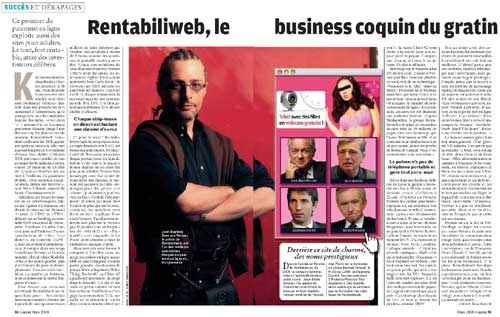 Jean-Baptiste Descroix-Vernier , Rentabiliweb et ses petits secrets