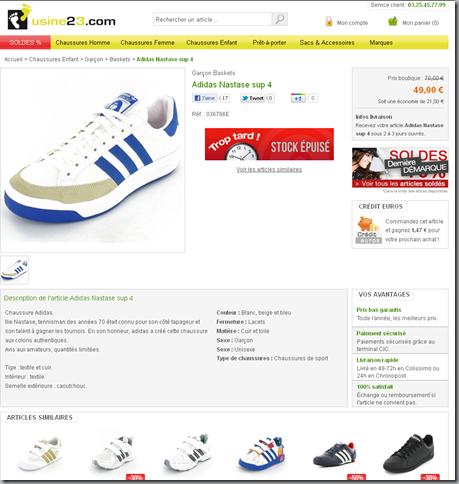 vente Adidas Nastase
