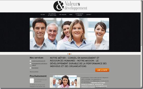 Site web fait avec Wordpress