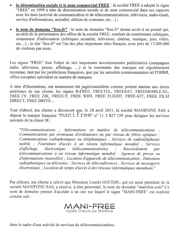Lettre free