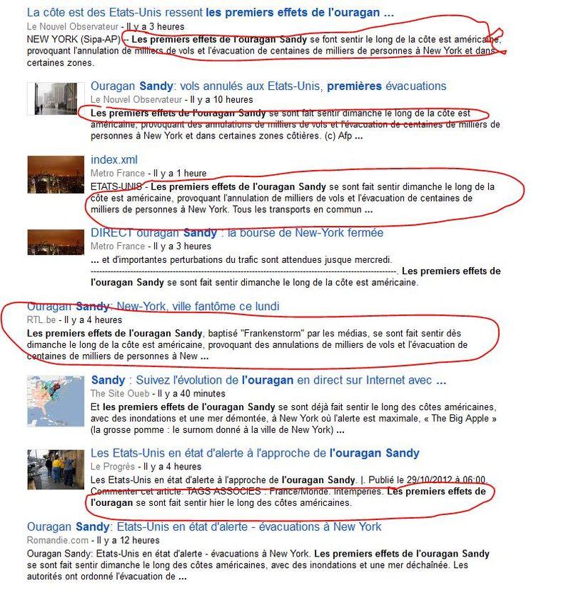 Duplicate content presse francaise