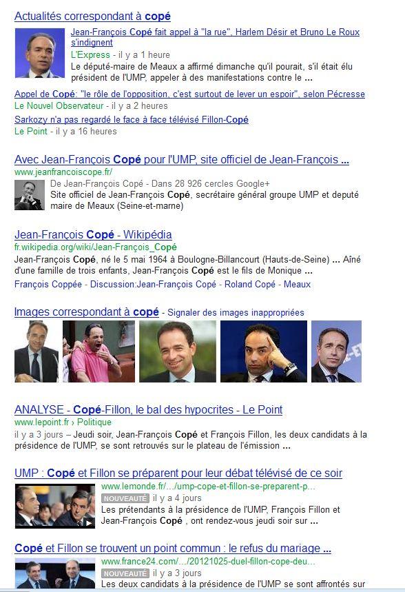 Cope sur google