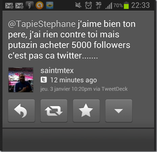 achat followers tapie