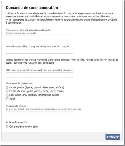 facebook pour mort
