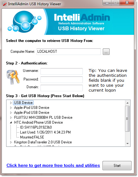 USB History Viewer