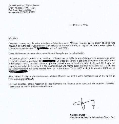 Contrat bouygues telecom pro