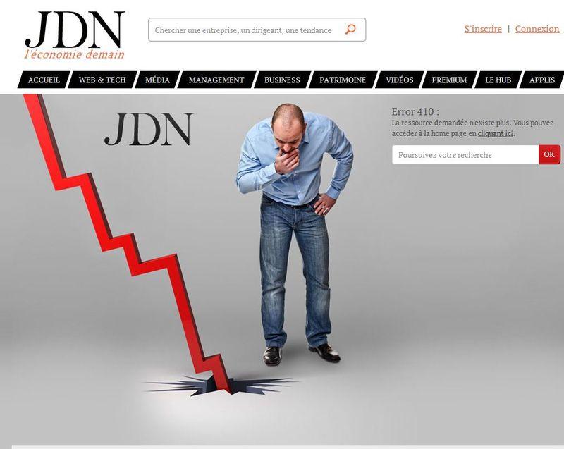 Erreur 404 JDN