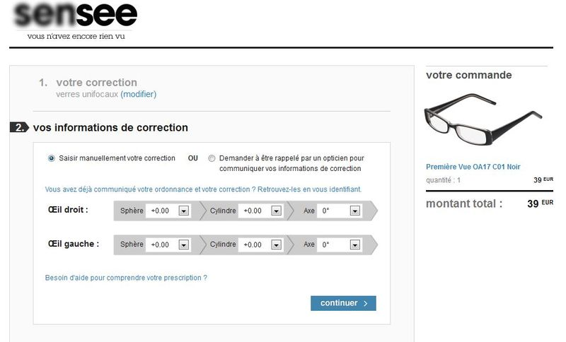 Choix lunettes