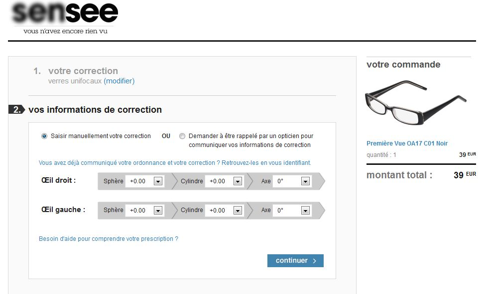 exemple facture opticien