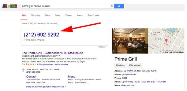 Google pages jaunes