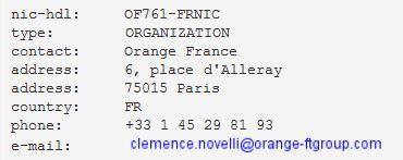 Clemence novelli Orange