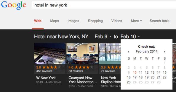 Google reservation d hotels