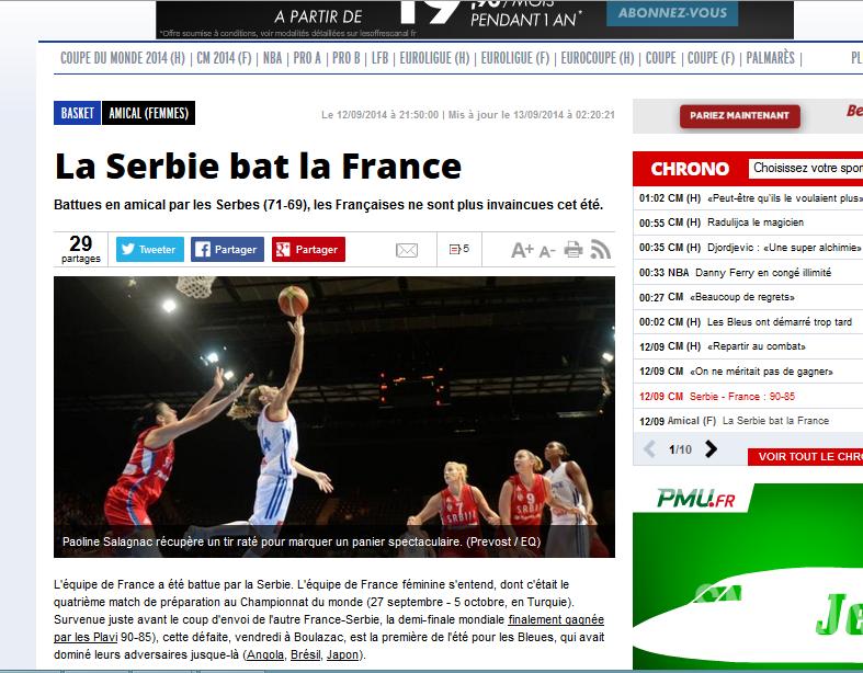 France serbie equipe