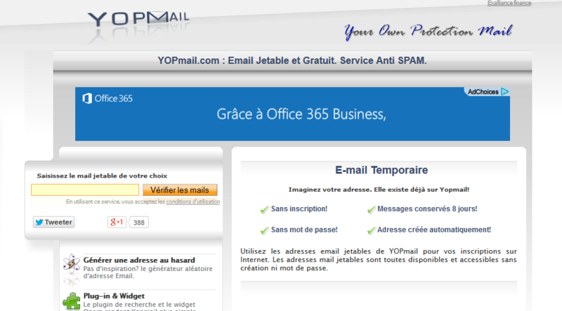 Email temporaire