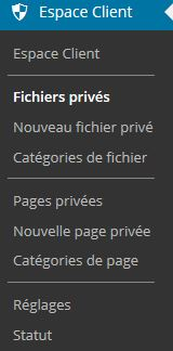 Espace client wordpress