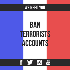Ban accounts terrorists