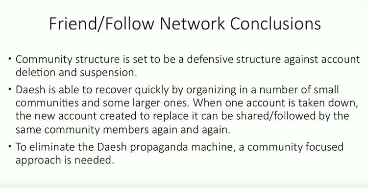 Eliminer communauté daesh sur les réseaux sociaux