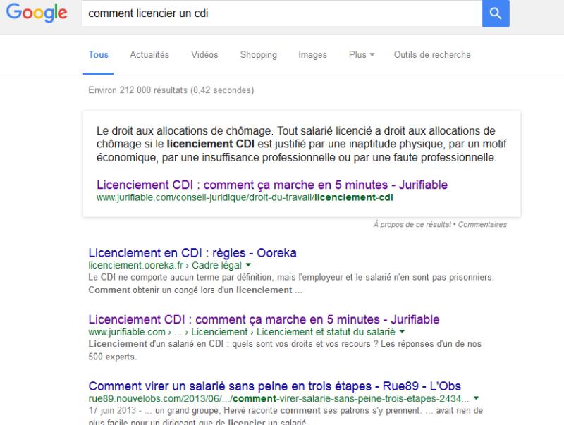 Nouveauté google