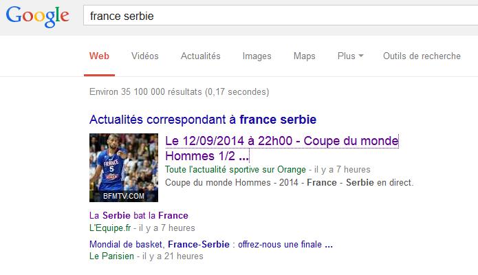 France serbie google