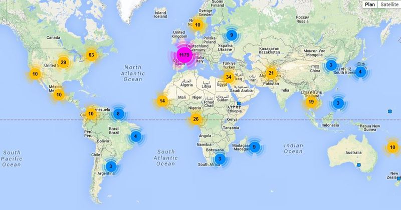Alain soral repartition geographique followers