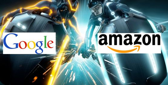 Google contre amazon pour le commerce