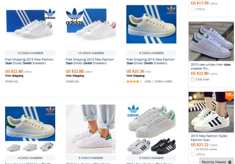 Adidas sur aliexpress