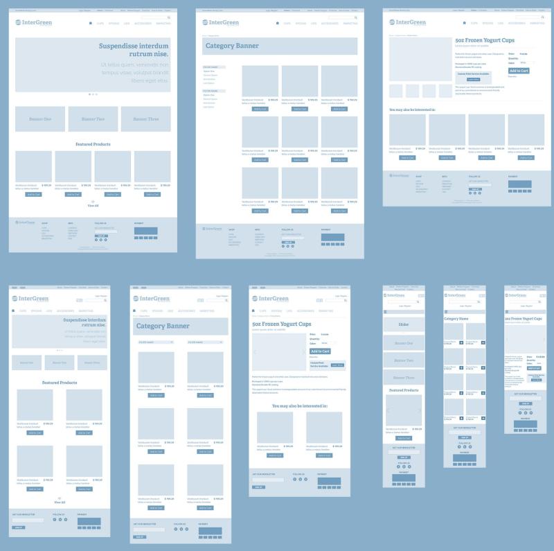 Vue mobile pour design