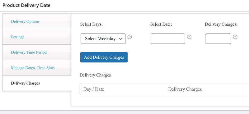 Delai de livraison et choix de date de livraison dans woocommerce